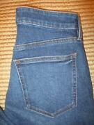 Ann Taylor The High Rise Straight Stretch Women's Dk Blue Jeans Size 6 X 28 New
