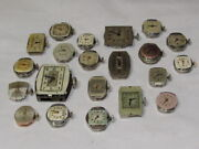Vintage Lot Of 21 Mechanical Womens Wrist Watches For Parts Repair