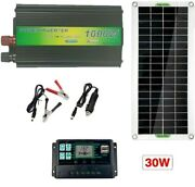 New Complete Solar Panel Kit Charger 1000w Inverter Controller Battery Generator