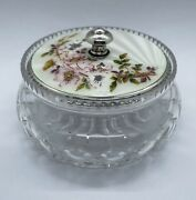 Guilloche Enamel And Sterling Silver Dressing Table Jar 1939