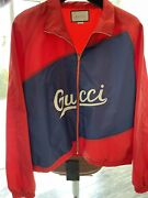 Nylon Jacket With Script Red Size 58/ 3xl Online Receipt Included