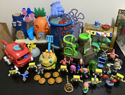 Spongebob Imaginext Huge Play Sets And Figures Lot With Rare Pieces