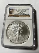 2013s Ngc Ms69 Silver American Eagle..struck At San Francisco Mint Early Rel.