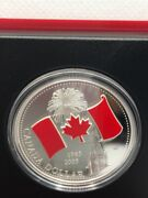 2005 Limited Edition Proof Silver Dollar 40th Anniversary Of Canada's Flag