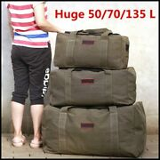 Simple Large Capacity Canvas Travel Luggage Bag Outdoor Travel Duffle Bag
