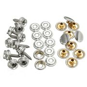 30x Snap Fastener Stainless Canvas Cap Screw Kit For Tent Boats Marines Reliable