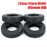 22/25mm Width Front Rear Rubber Tyres Tires For Tamiya 114 Rc Trailer Tractor