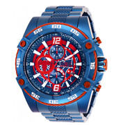 Marvel Spiderman Men's 52mm Blue Limited Edition Chronograph Watch 26771