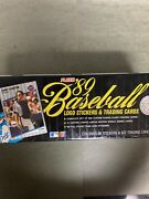 89 Baseball Fleer Logo Stickers And Trading Cards Complete Set Collectors Tin