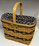 Longaberger Jw Collection Mini Bread And Milk Basket Liner Protector Card 2000