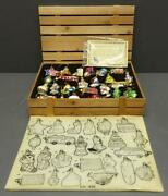 Set 24 Thomas Pacconi 2006 Blown Glass Christmas Ornaments Ch-606 In Wood Crate