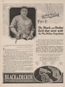 Macmillan Arctic Expedition Black And Decker Drill Towson Md Maryland 1925 Tool Ad