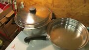 Saladmaster 5 Star Stainless Steel Kettle And Fry Pan- 3 Pcs