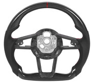 Real Carbon Fiber Sport Universal Car Steering Wheel Fit For Audi(customized)