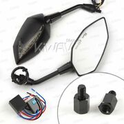 Mirror Lucifer Led 10mm 1.5p Neat Stem + Flasher Rate Controller Fits Bmw F800gs