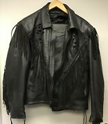 Lot Of 2 Women's Leather Jacket With Harley-davidson Patch And J. Riggings Pants