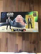Star Wars Potf - Jabba The Hutt And Han Solo. Trilogy Special Edition-nib