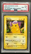 1999 Pokemon Game Pikachu Psa 8 Mint First 1st Edition Red Cheeks 58/102 Card 58