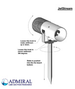 Jetstream Aqua Thruster And Aerator Restores Lakes And Ponds 1hp And 100and039 Cord.