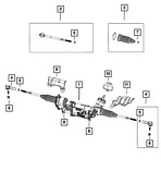 Genuine Mopar Rack And Pinion Gear 68466322ab