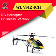 Wltoys V912 4ch Brushless Rc Helicopter With Gyro Rc Drone Aircraft Airplane