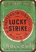 Retro Lucky Strike Pipe Metal Tin Signs Cigarette Roll Cut Tobacco Vintage Looks