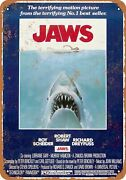 Vintage 1975 Jaws Movie Tin Signs Metal Iron Poster Metal Plaque Wall Decoration