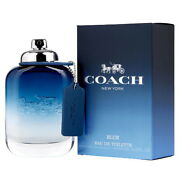 Coach Blue By Coach 3.3 / 3.4 Oz Edt Cologne For Men Brand New In Box