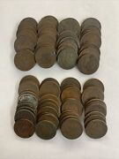 Indian Head Penny 80 Pcs Various With Dates 1899 And Years Before 1899