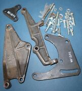 Chevy A-6 Compressor Bracket Kit, 1964-76,sb, Swp, Rams Horn Exh Mani Old Air