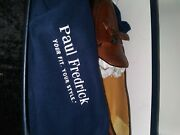 Paul Fredrick Dress Shoe Mint Condition With Blue Oxford Toilet Cologne Sample