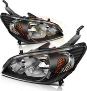 Headlights Fits 2004-2005 Honda Civic Replacement Led Drl Halogen Light One Pair