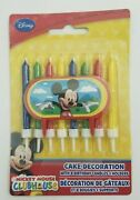 Disney Mickey Mouse Candle Set W/ Birthday Party Decoration Supplies Cake Topper
