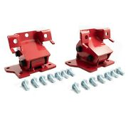 Rudy's Performance Red Motor Mounts For 01-10 Gmc Chevy Lb7 Lly Lbz Lmm Duramax