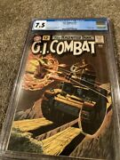 G.i. Combat 91 Cgc 7.5 Off -white Pages 1st Haunted Tank Cover- Beautiful
