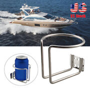 2pcs Boat Stainless Steel Drink Cup Holder Can Bottle For Marine Yacht Truck Rv