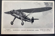 Mint England Valentines Picture Postcard Aircraft Recognition Points