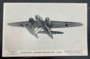 Mint England Valentines Picture Postcard Aircraft Recognition Plane Type B