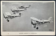 Mint England Valentines Picture Postcard Gloster Aircraft Raf Fighters