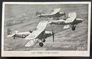 Mint England Valentines Real Picture Postcard Raf Hinds In Flight Formation