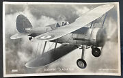 Mint England Valentines Picture Postcard Raf Military Gloster Gladiator