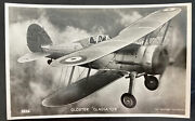 Mint England Valentines Picture Postcard Royal Air Force Raf Gloster Gladiator