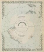 Southern Regions. South Pole Antarctica. Explorersand039 Routes. Colton 1869 Map