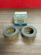 1958-63 Ford Pickup Truck V8 Oil Cap Filters Pair Nos Fomoco 321