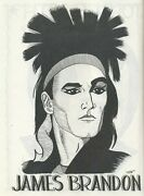 James Brandon Caricature 1989 Magic Autograph Poster Gallery Book By Gary Darwin