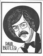 Paul Butler Caricature From 1989 Magic Autograph Poster Gallery By Gary Darwin