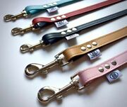 New Buddy Belt Leash/leads - All Leather Or Leather And Nylon