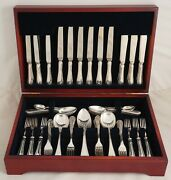 Louis Xvi Design Mappin And Webb London Silver Service 61 Piece Canteen Of Cutlery