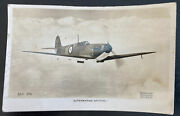 1941 Tensy England Rppc Postcard Cover To Cardiff Supermarine Spitfire Aircraft