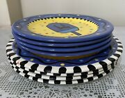 Festival Of Lights By Chris Bubany/baum Bros Dinner And Salad Plates Set Of 8